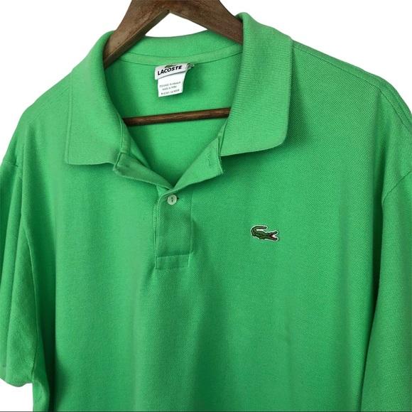 Lacoste Green Polo Shirt Size 9 (US XXL) Men's
